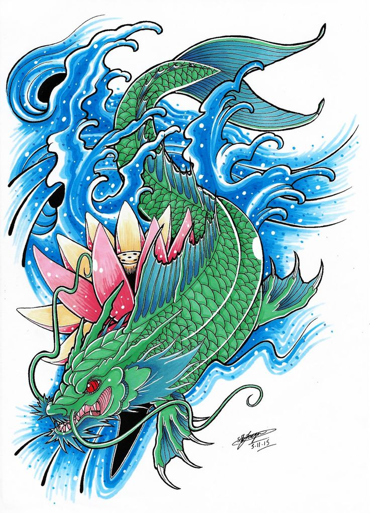 42 best Koi Dragon Tattoo Drawings images on Pinterest ...Koi Fish Dragon Tattoo Designs