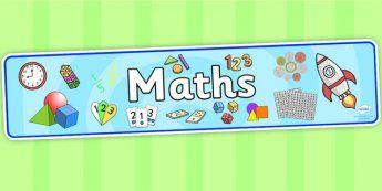 Maths Display Banner - mathematics display banner, maths display banner, maths banner, mathematics display, mathematics, numeracy