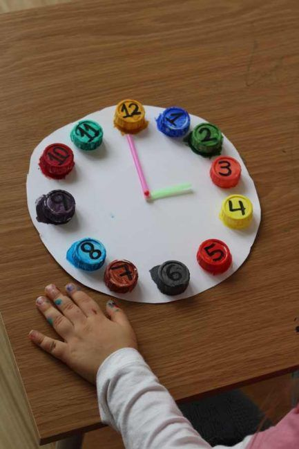 Upcycled Clock: A Color Matching Activity