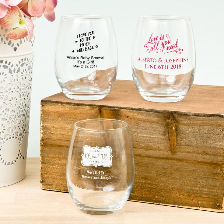 It's clear that these personalized stemless wine  glasses are a great way to inspire a truly memorable toast on your special day!
