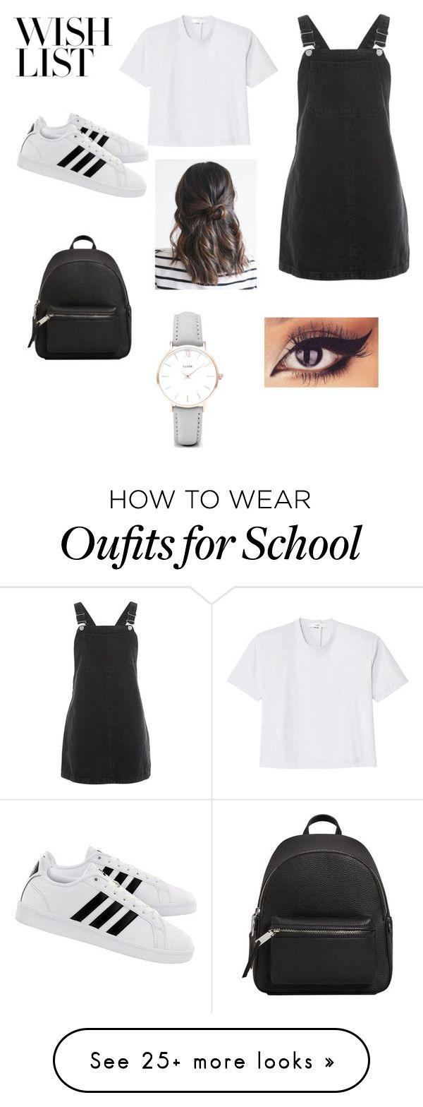 """#PolyPresents: Wish List"" by vansalaz on Polyvore featuring Topshop, TIBI, adidas, MANGO, CLUSE, contestentry and polyPresents"