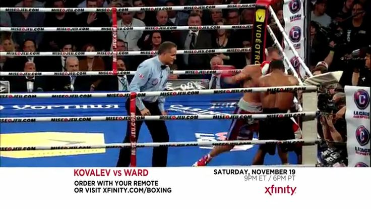 Xfinity Order Kovalev-Ward on Pay-Per-View TV Commercial ad advert 2016  XFINITY TV Commercial • XFINITY advertsiment • Order Kovalev-Ward on Pay-Per-View • XFINITY Order Kovalev-Ward on Pay-Per-View TV commercial • Catch all the action from the best seat in the house – your house. Order Kovalev-Ward on Pay-Per-View from XFINITY, November 19 at 9pm ET/6pm.  #‎DirecTV‬ ‪#‎Dish‬ #XFINITY #‎Comcast‬ ‪#‎MovingDay ‪#‎ATT #‎X1‬ #‎XfinityX1‬ #AbanCommercials