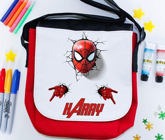 Super Hero personalised school lunch bag  lunch box school