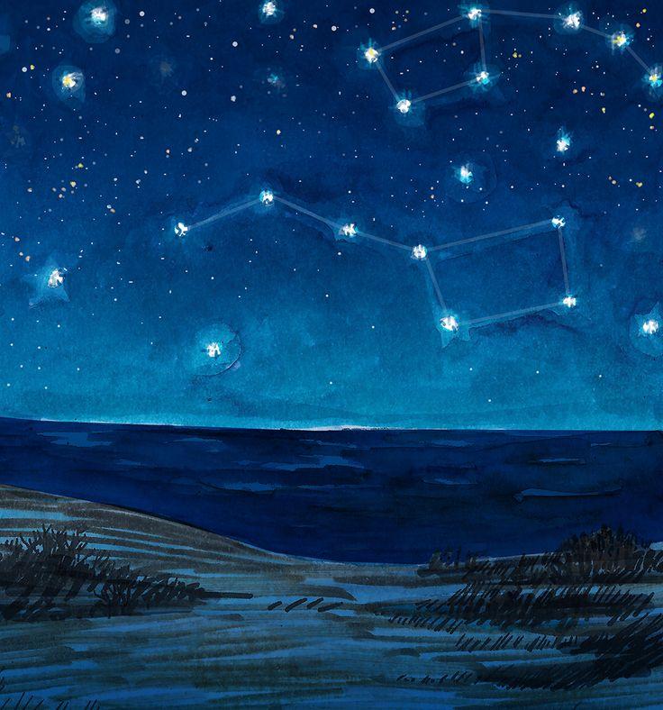 Картинки звездное небо с большой медведицей смотреть онлайн