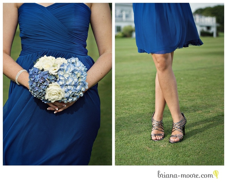 #wedding #details #bridesmaid #dress #bouquet #hydrangea #blue #shoes
