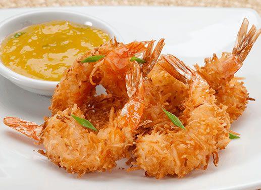 Receta de Camarones al coco con salsa de piña en TQMA de Pronaca
