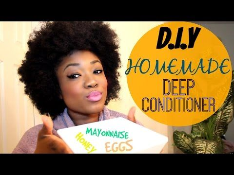 D.I.Y - Homemade Deep Conditioner - Using: Eggs, Mayo and Honey - YouTube