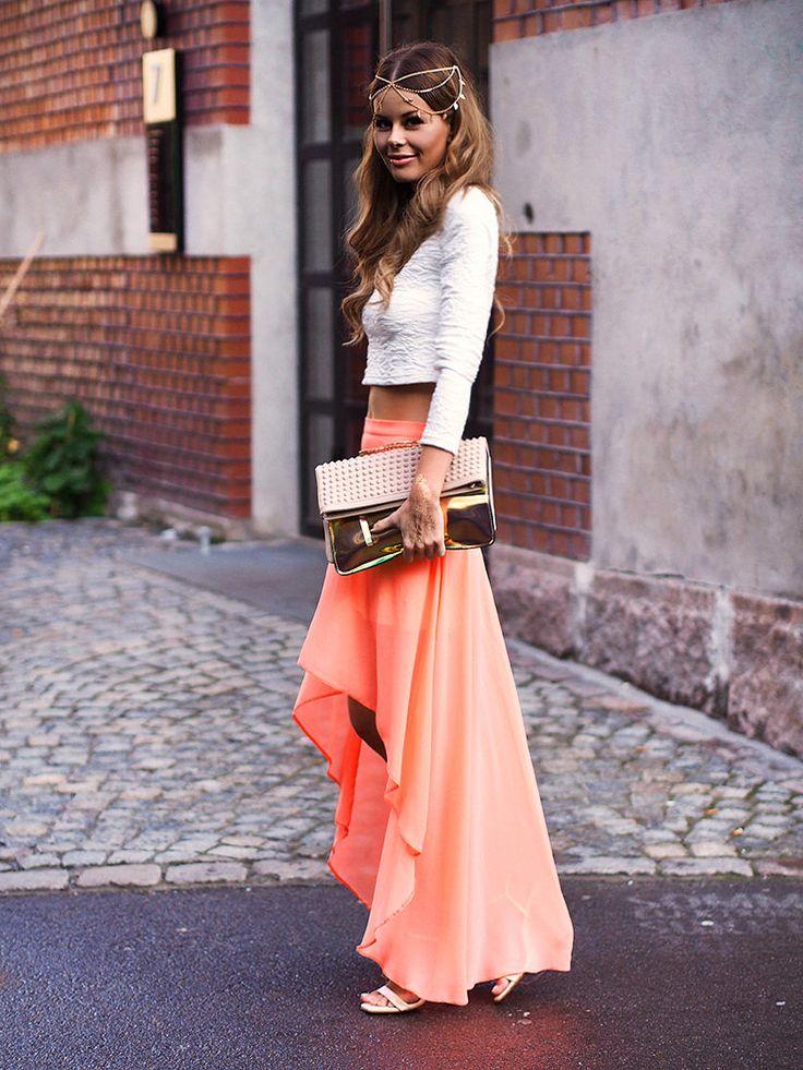 Nette Nestea - orange skirt + crop top