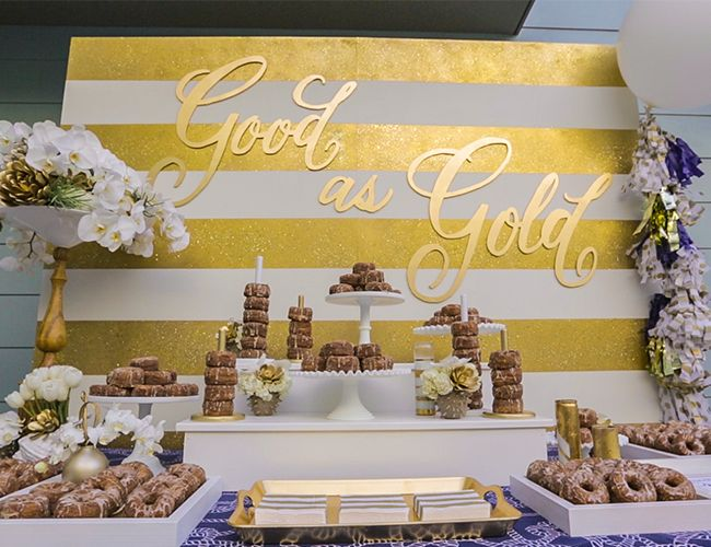 Be Inspired PR Gold Glitter Party on Inspired by This Blog // cronut bar