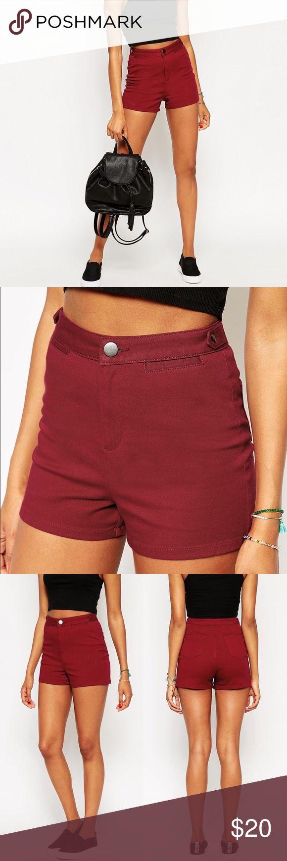 ASOS Burgundy Shorts ASOS ultimate 70's hot pants in burgundy. Size 12. ASOS Shorts