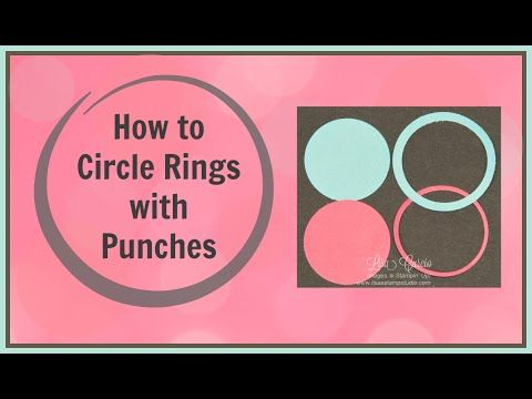 Quick Crafting Tip - How to Make Cardstock Rings  Stampin' Up!, card, paper, craft , paper, scrapbook, craft, rubber stamp, hobby, how to, DIY, handmade, Lisa Curcio, circle punch, technique, www.lisasstampstudio.com