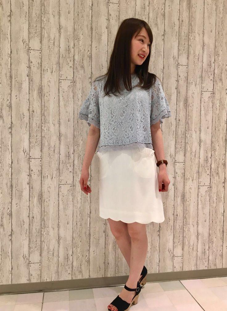 ルミネエスト新宿店  総レースショート丈トップス×タイトスカート