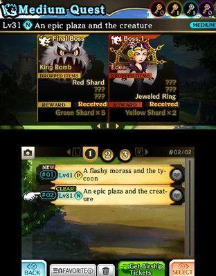 Theatrhythm Final Fantasy Curtain Call Medley Quest Screen