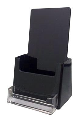 Free Standing Brochure Holder With Biz Pocket HC 500BC BLACK