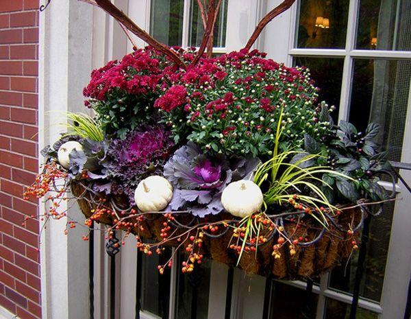Lovely fall window box