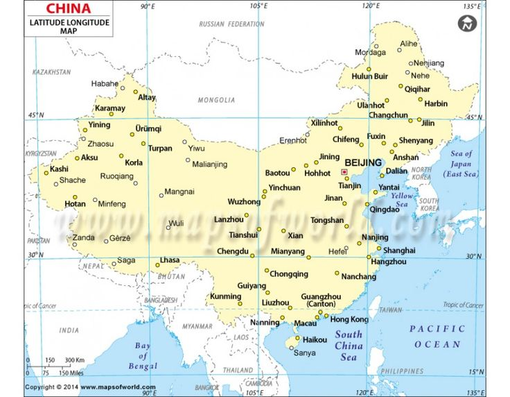 China Map And Other Cities China Latitude Longitude
