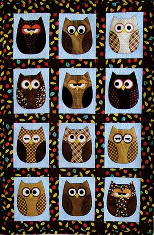 Snuggle up with some really cute owls for the sweetest of dreams! Mix and match fat quarters, dig deep into your stash for scrappy owls or try making a qui
