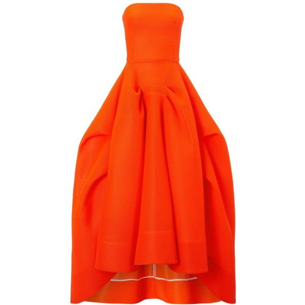 Maticevski Fluoro Mesh Thorax Gown found on Polyvore