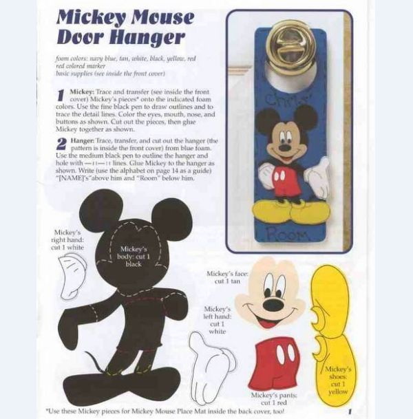 Molde Mickey Mouse Para Imprimir Artesanato Do Mickey Mouse