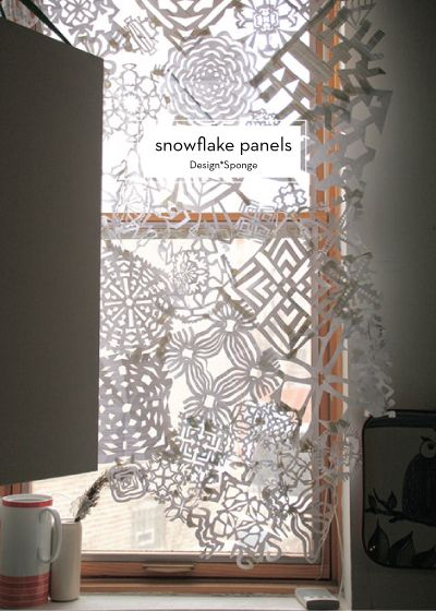 DIY HOLIDAY DECOR   Winter Snowflake Panel for your Window