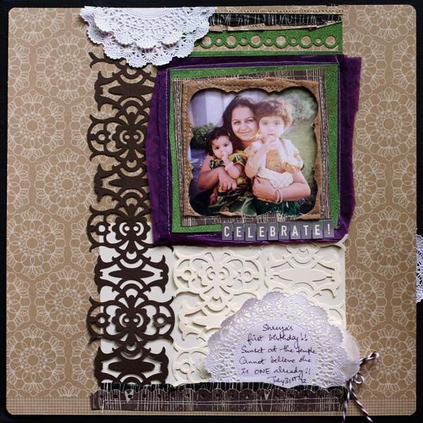 @Smitha Katti's layout using the #Fuse and Interchangeable Border Punch www.fiskars.com