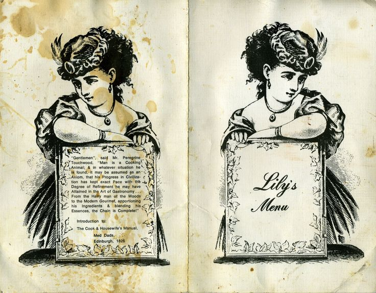 """A remarkable relic from 1960's Melbourne, a menu from Lily Brett's restaurant/cafe where she graciously allowed our penniless band """"The Village Eyes"""" spend the night when over from Adelaide to play The Garrison in 1967."""