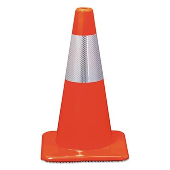 3m Commercial Tape Div 90128r Orange Reflective Traffic Safety Cone 44 11 X 11 X 18 In Reflective Material Reflective 3m Reflective