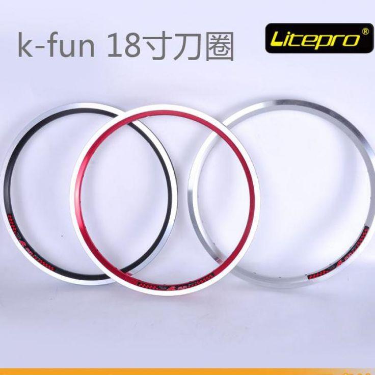 29.98$  Buy now - http://aliy60.shopchina.info/go.php?t=32618570911 - Litepro kfun 18 inch Folding Bike Rims 355 BMX 20 28 Holes Bicycle wheels for birdy tikit bike  #buymethat