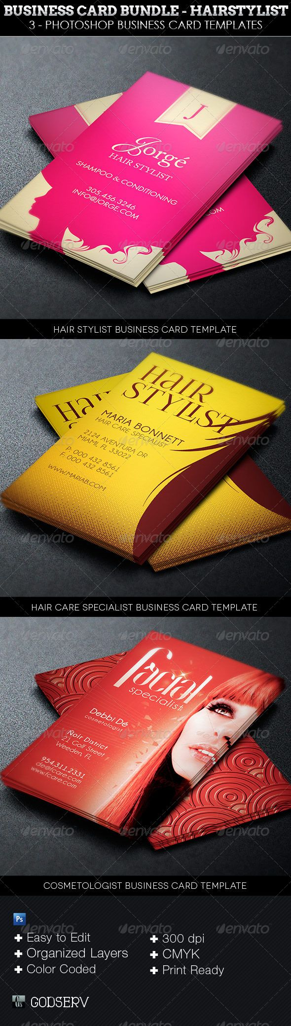 13 best business cards images on pinterest business cards business card template bundle hairstylist 1100 the corporate business card template bundle hairstylist magicingreecefo Choice Image