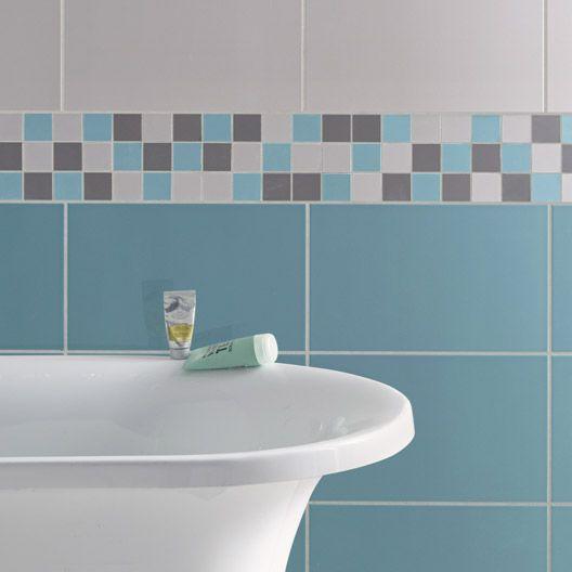 carrelage mural home en fa ence bleu atoll n 3 25 x 40 cm id e salle de bain pinterest. Black Bedroom Furniture Sets. Home Design Ideas