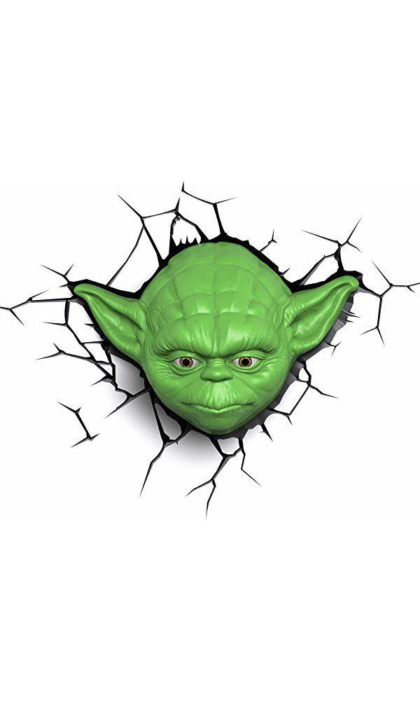 3D Light FX Star Wars Yoda Face 3D Deco LED Wall Light Best Price
