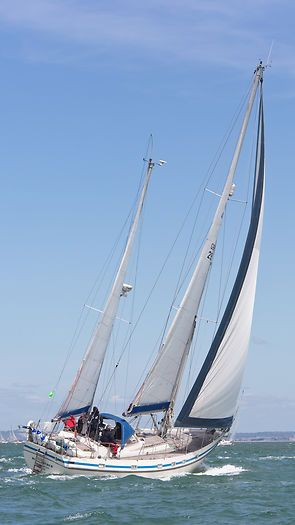 The Contest 48s yacht 'Windcatcher' competing in the 2013 J.P. Morgan Asset Management Round the Island Race.
