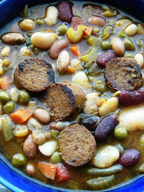 Meet The Shannons: The Betty Crocker Project : 16 Bean, Leek & Tofurky Kielbasa Soup