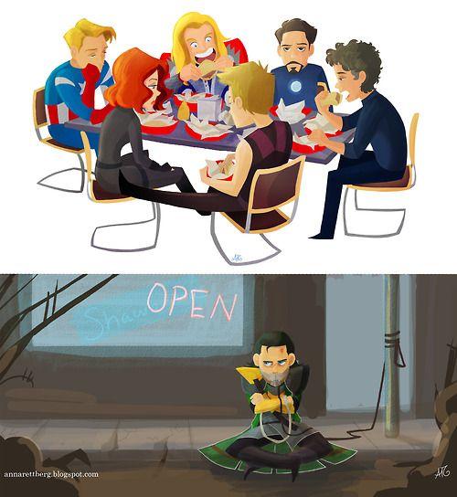 Oh my poor Loki, no Shawarma for you :(