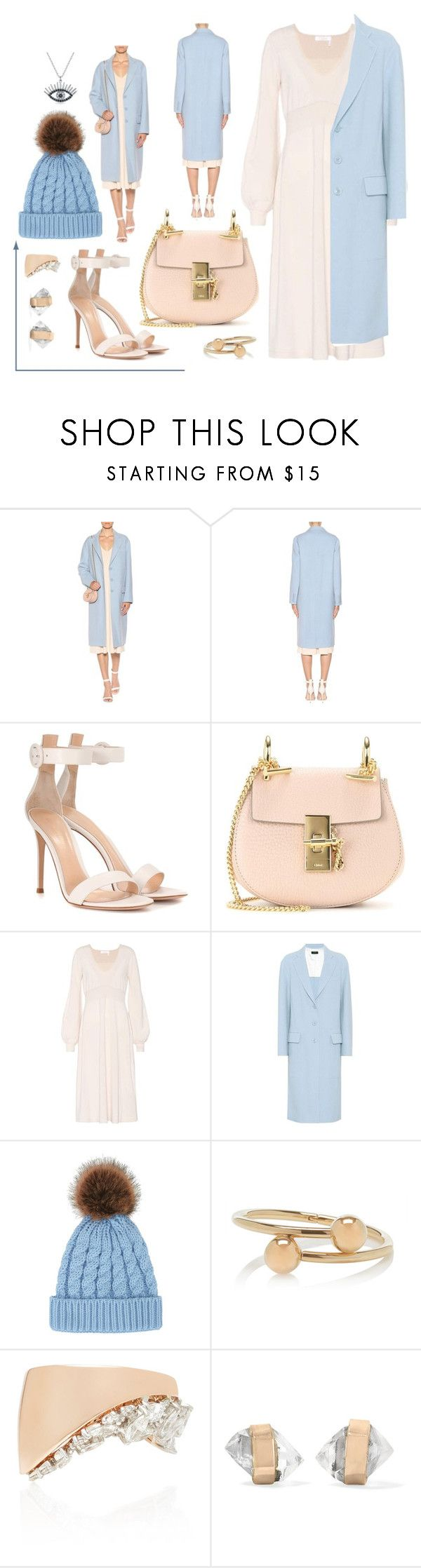 """""""Untitled #9919"""" by cherieaustin on Polyvore featuring Joseph, Gianvito Rossi, Chloé, J.W. Anderson, Yeprem, Melissa Joy Manning and Bling Jewelry"""