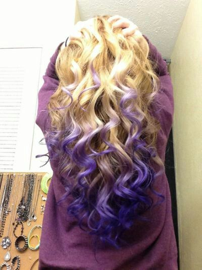 Purple reverse ombre