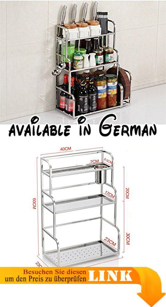 B078WR9FMP  LY Kitchen furniture Küchenregal Spatel 3 Layer Wand - hochschrank 30 cm breit küche