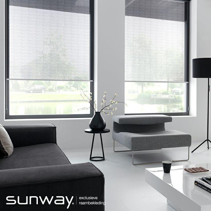 Transparante stoffen van SUNWAY filteren het licht mooi en zijn geschikt voor toepassing in een woonkamer.