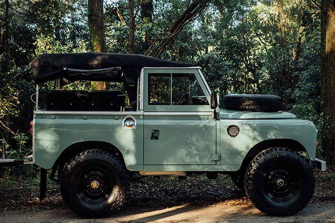 1982 Land Rover Series 3 with Camping Trailer | HiConsumption
