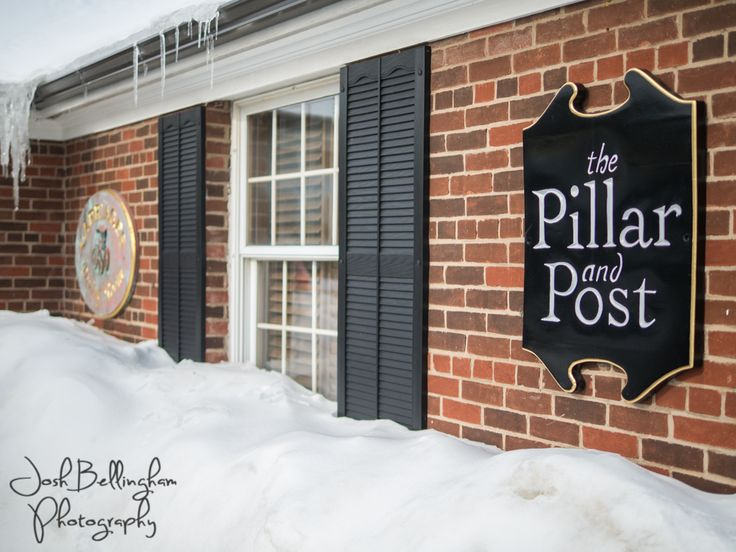 Winter wedding at the Pillar and Post in Niagara On The Lake. Stay cozy and warm inside the gorgeous Pillar and Post. @vintagehotels  #JoshBellinghamPhotography www.joshbellingham.com