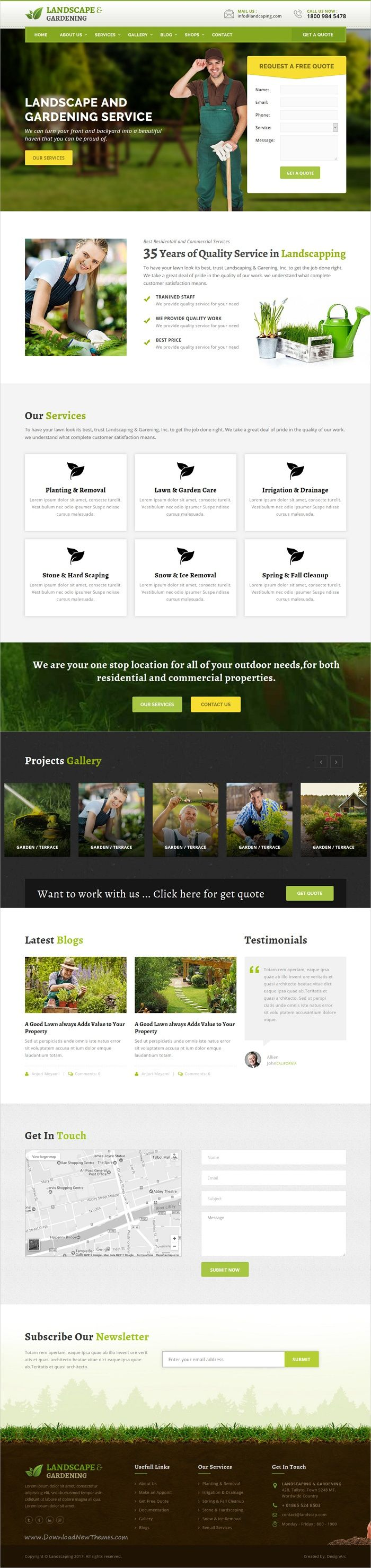 Landscape & gardening is a wonderful 4in1 responsive #HTML bootstrap template #Lawn Services, #Agriculture, Landscape Architects and all type of Gardners Business websites download now➩ https://themeforest.net/item/lanscape-gardening-html-template/17689207?ref=Datasata