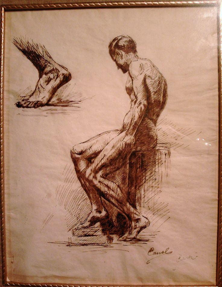 Francisco Antonio Cano Tinta sobre papel 32 x 24 centìmetros