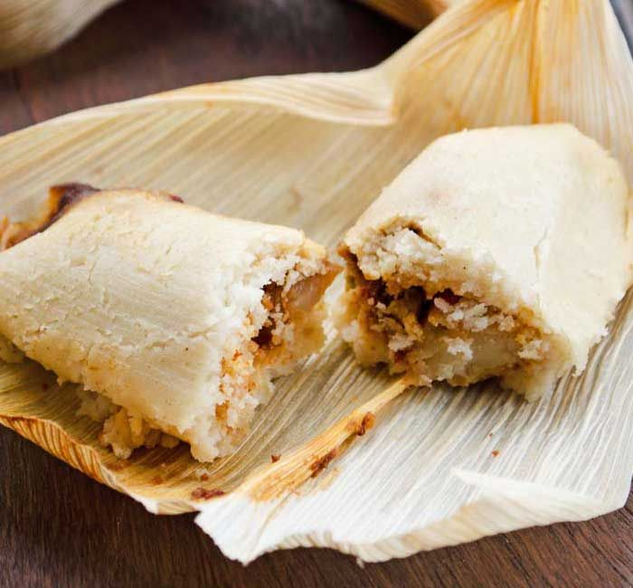 Get ready to have a tamale making party with your friends. Dora Stone has amazing VEGAN tamale recipes with easy to make instructions. Here's her Potato Adobo recipe.