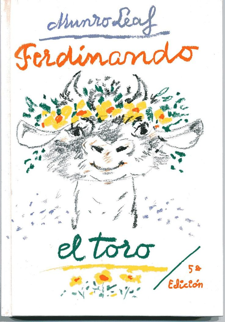 Pasaron los años y Ferdinando el toro, que prefería oler las flores, sentado debajo de una encina, en lugar de competir con los otros toros en fiereza, mantiene no sólo la calidad de una gran belleza plástica y poética sino que vuelve, una y otra vez, a ser actualidad. El texto de Munro Leaf fue publicado en plena guerra civil española, como una bella aportación a la causa de la paz.