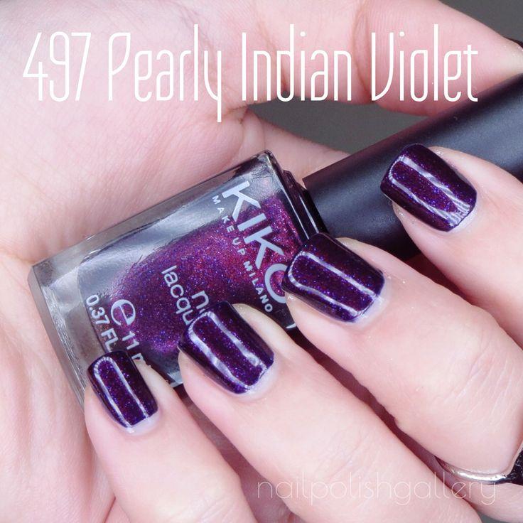"""497 Pearly Indian Violet"" Kiko cosmetics"