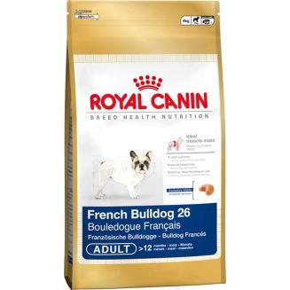 El pienso Royal Canin French Bulldog 26 está indicado especialmente para perros adultos de la raza Bulldog Francés. Es una dieta que contiene los nutrientes adecuados a las necesidades nutricionales de esta raza de perro.