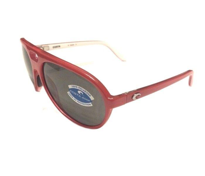 Cool retro sunglasses!  Only $30!! Costa Del Mar Grand Catalina Sunglasses – Red White – Gray 400P POLARIZED