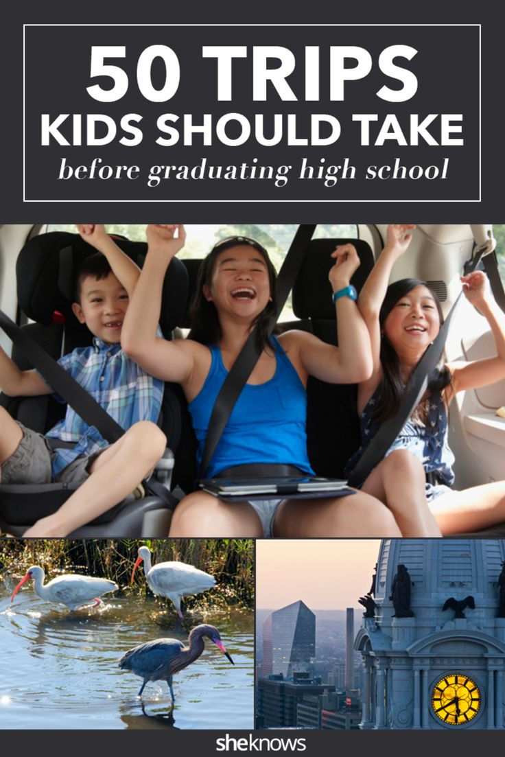 50 trips all kids should take before graduating from high school. #KidFriendly #Vacation