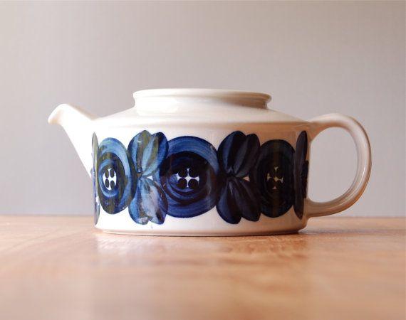 Vintage Arabia of Finland Anemone Teapot - Ulla Procope ($50.00) - Svpply