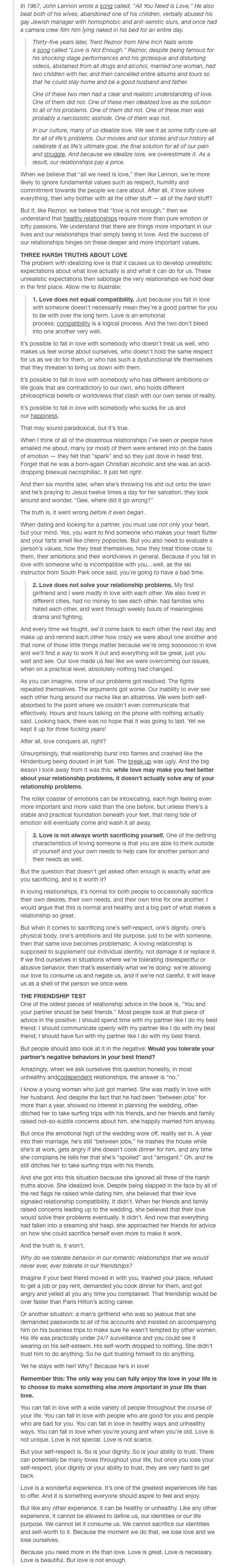 All We Need Is Love vs. Love Is Never Enough | shit. this was a really good read. it was difficult, but necessary, and I'm pinning it so I can read it again and again. I don't want to forget this.